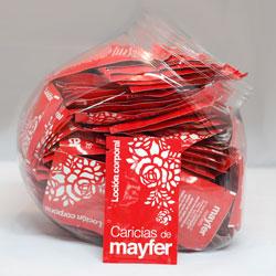 Sobres de loción Caricias de Mayfer